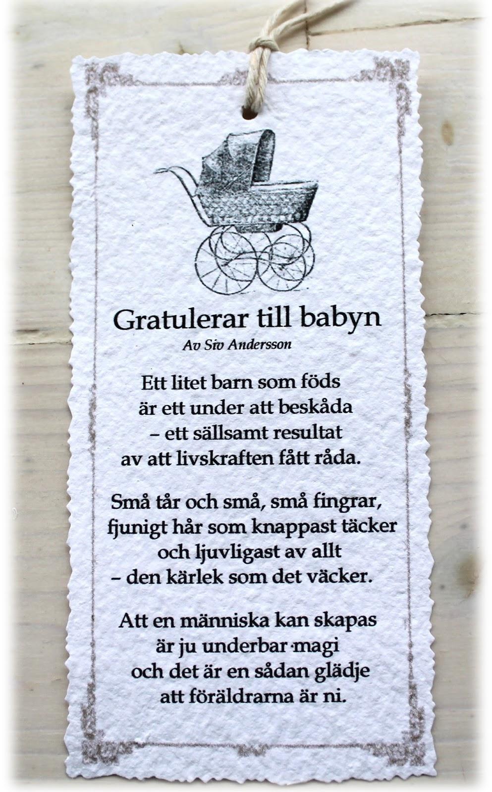 grattis till babyn dikt Annas idéer bloggbutik: Diktkort! grattis till babyn dikt