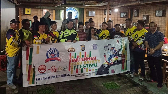 Komunitas YNCI Bitung Chapter Hadiri Undangan Kasat Lantas Polres Bitung, Sosialisasi MILENIAL ROAD SAFETY Festival
