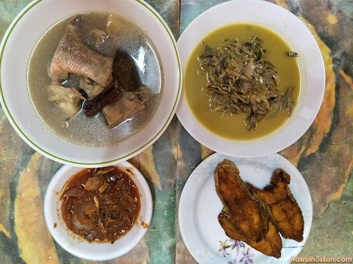 Sup Ikan Merah, Ikan Merah Goreng dan Masak Lemak Jantung