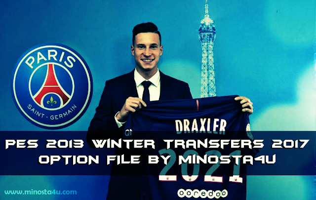PES 2013 Option file winter transfers 2017 Update 21 January by minosta4u