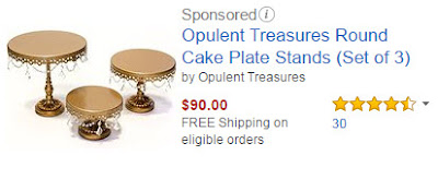 Opulent Treasures Round Cake Plate Stands