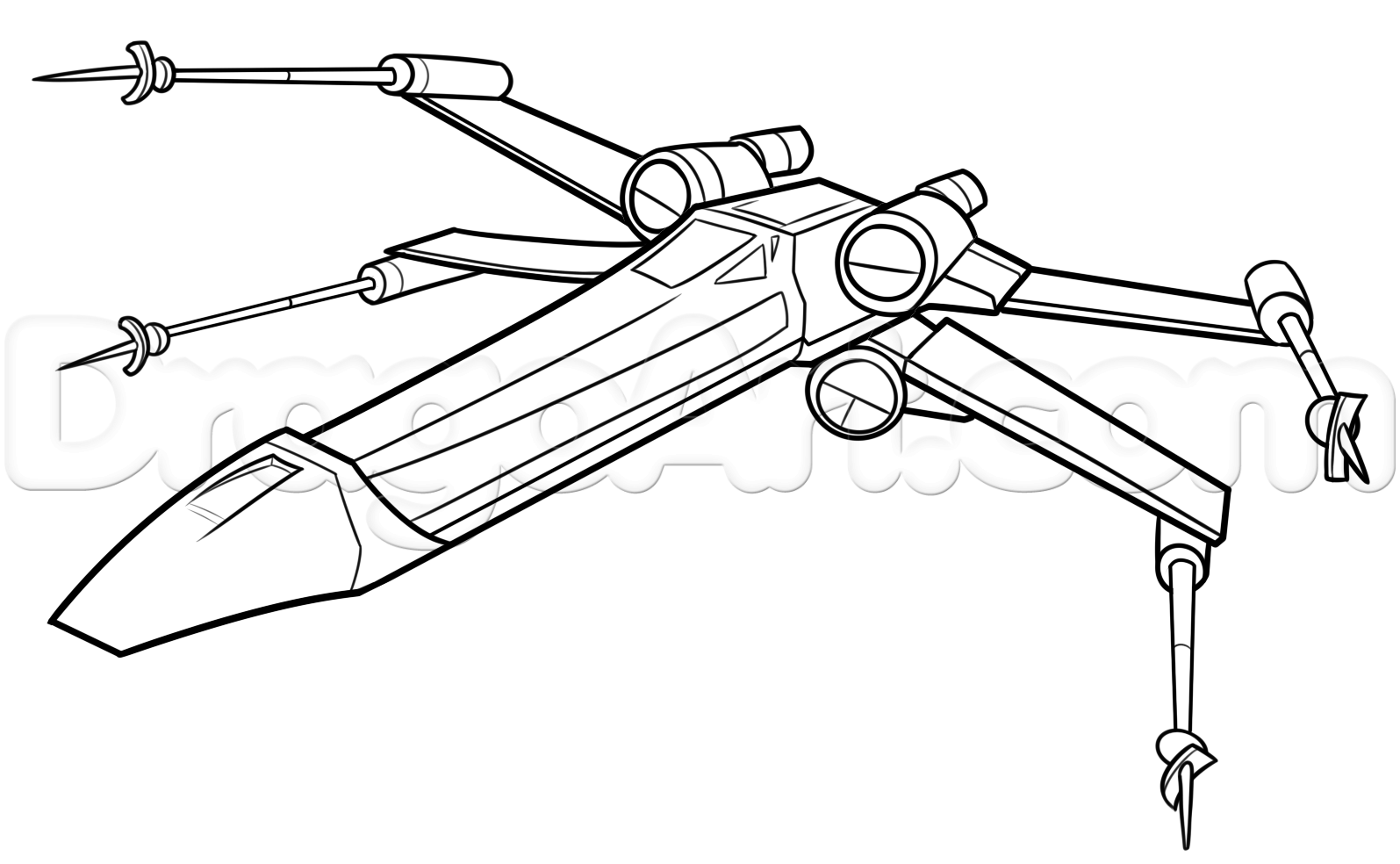 Star Wars Coloring Pages B Wing