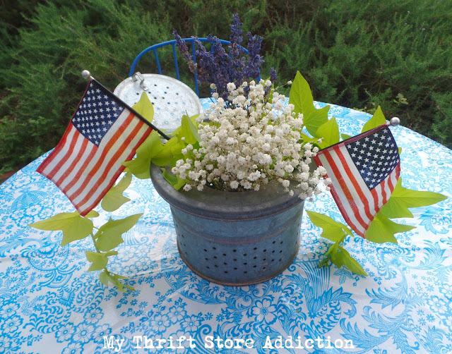 red white and blue in the garden and lavender lemonade recipe