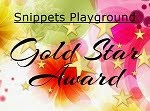 Gold Star award for my woodland card