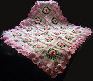 Sandvicrochet Crochet 3d Flower Blanket