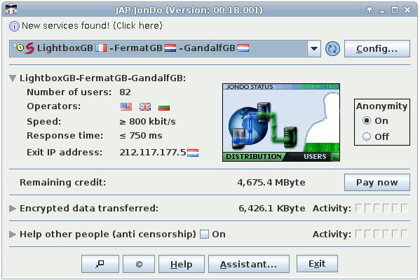 تحميل برنامج بروكسي جيب JAP / JonDo للكمبيوتر مجانا