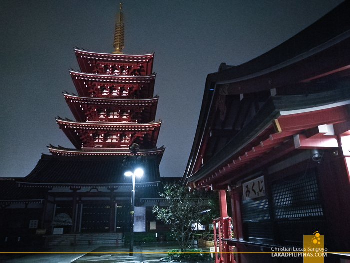 Tokyo Senso-Ji Temple Asakusa Evening