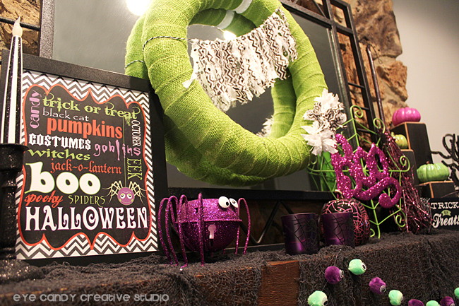 ideas for decorating your mantel for halloween, sunway art, spider web