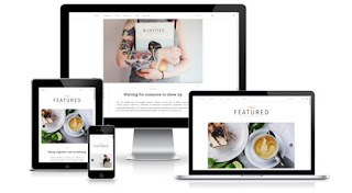 Featured blogger template