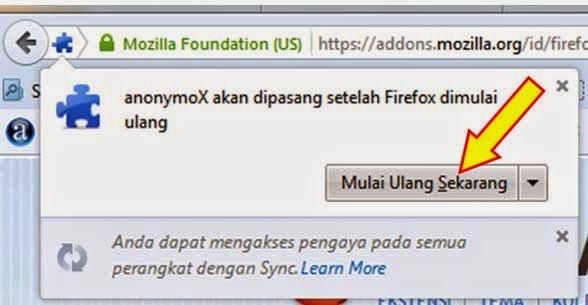 anonymoX cara buka situs yang diblokir
