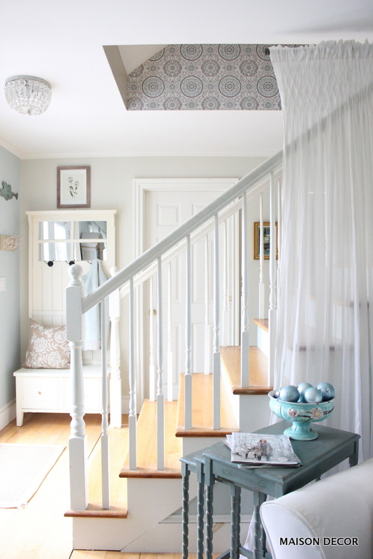 Maison Decor: Pretty Swedish Style Wallpaper for my Staircase