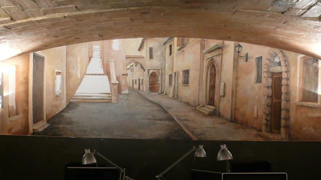 Aranżacja ściany w biurze, Warszawa, malarstwo ścienne