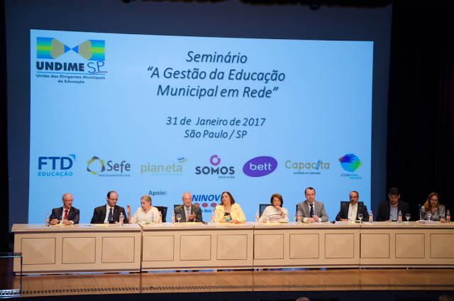 Secretária de Educação participou de Seminário da UNDIME em São Paulo.