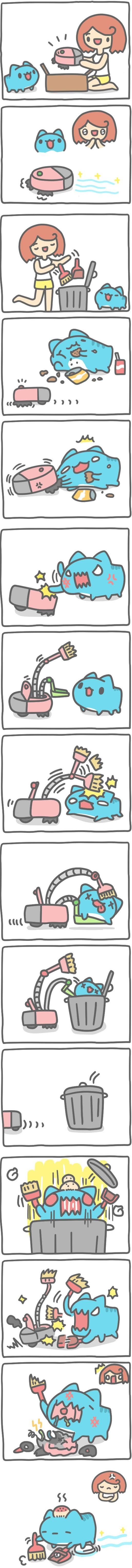Truyện Mìn Lèo #403: Robot hút bụi