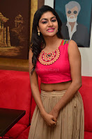 Akshita super cute Pink Choli at south indian thalis and filmy breakfast in Filmy Junction inaguration by Gopichand ~  Exclusive 076.JPG