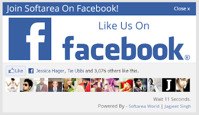 Facebook Page Like Pop-up with Timer Control