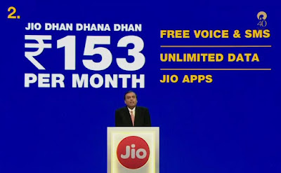 Jio Phone Unlimited data for Rs.153 plan