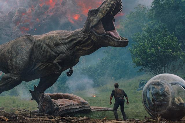 """A T-Rex roars in """"Jurassic World: Fallen Kingdom"""""""