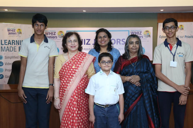 Photo Caption L-R Bhavya Shah, Ms Perin Bagli-Regional Head of Maharashtra ICSE board , Ms. Vidushi Daga, Founder & Director of Clone Fut