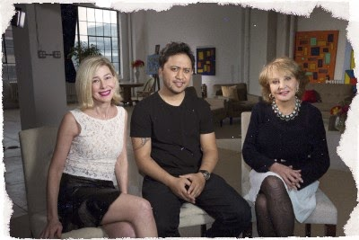 Mary Kay Letourneau Fualaau , Vili Fualaau and Barbara Walters chat on TV April 10, 2015.