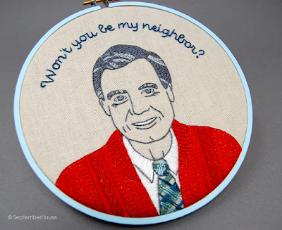 Mr Rogers Embroidery Pattern Hand Embroidery by SeptemberHouse
