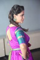 Shilpa Chakravarthy in Purple tight Ethnic Dress ~  Exclusive Celebrities Galleries 019.JPG