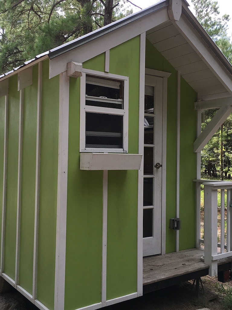 Tiny House Town A 72 Sq Ft Lime Green Tiny House