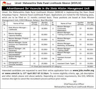 MSLRM Recruitment 2017