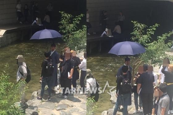 tvN新週末劇《名不虛傳》拍攝中 金南佶古裝亮相