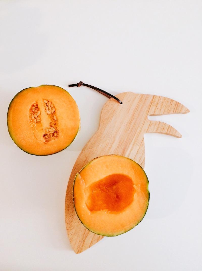 melon coupé en deux