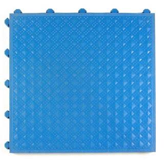 Greatmats Comfort Matta PVC tile blue