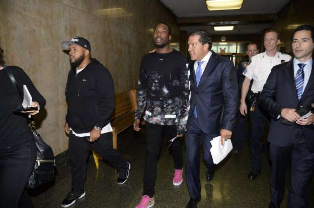 Meek Mill walks without bail after he's charged in wheelie stunt