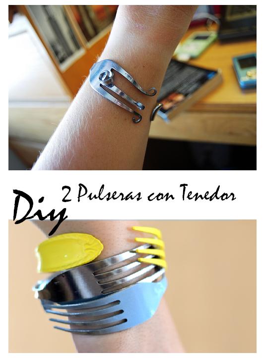 Enrhedando manualidades for Pulsera tenedor