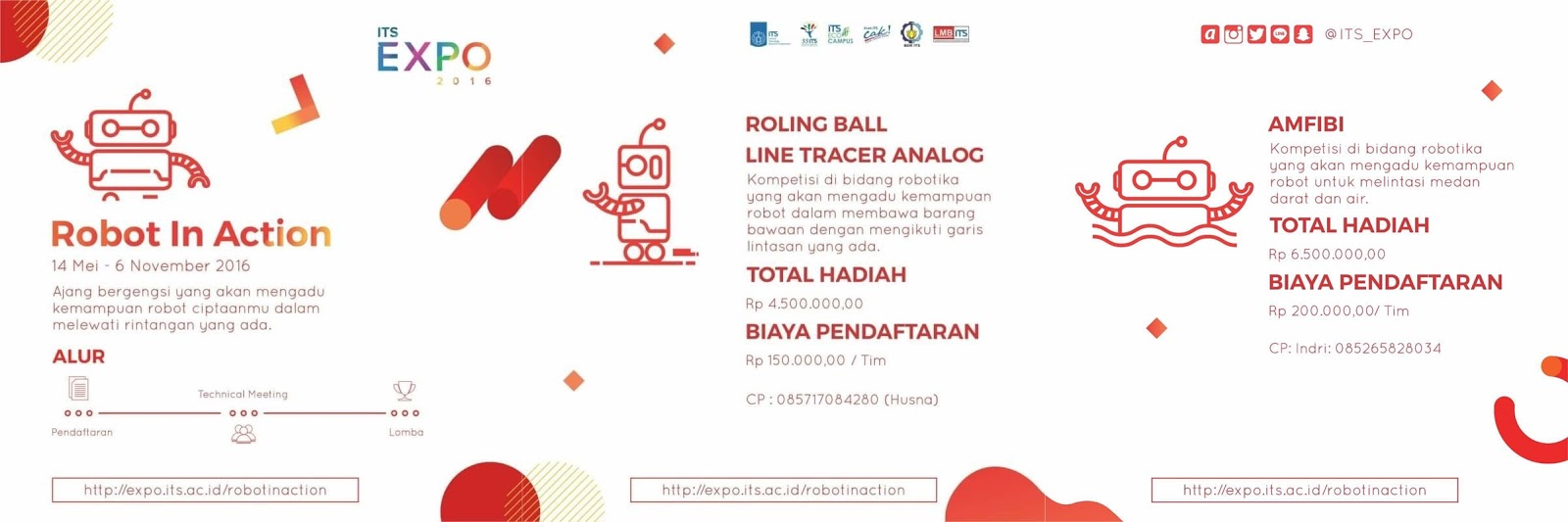 """Lomba Robot """"Robot in Action"""" ITS Expo 2016"""