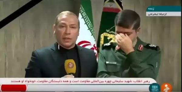 ΒΙΝΤΕΟ: Η συγκλονιστική στιγμή που Ιρανός αξιωματικός βάζει τα κλάματα σε ζωντανή σύνδεση