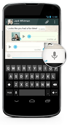 WhatsApp Messenger introduces Voice Messages for Android