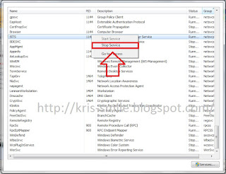 Windows task manager services