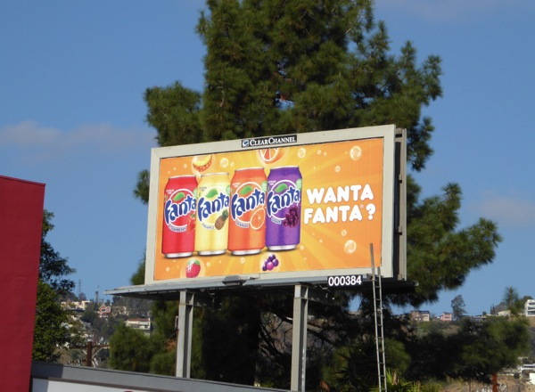 Want Fanta soda billboard