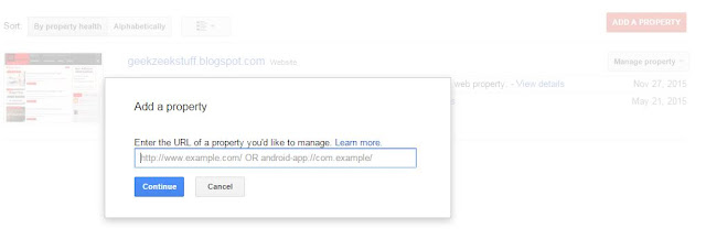 Submitting Blog to Google