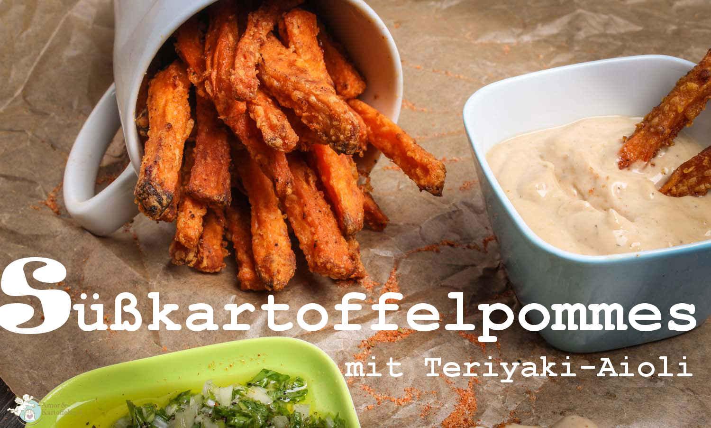 Amorkartoffelsack Knusprige Süßkartoffelpommes Mit Teriyaki Aioli