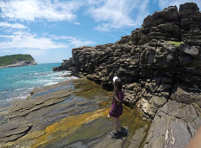 "Praia da Foca e a maravilhosa rocha ""mil folhas"" - Búzios"