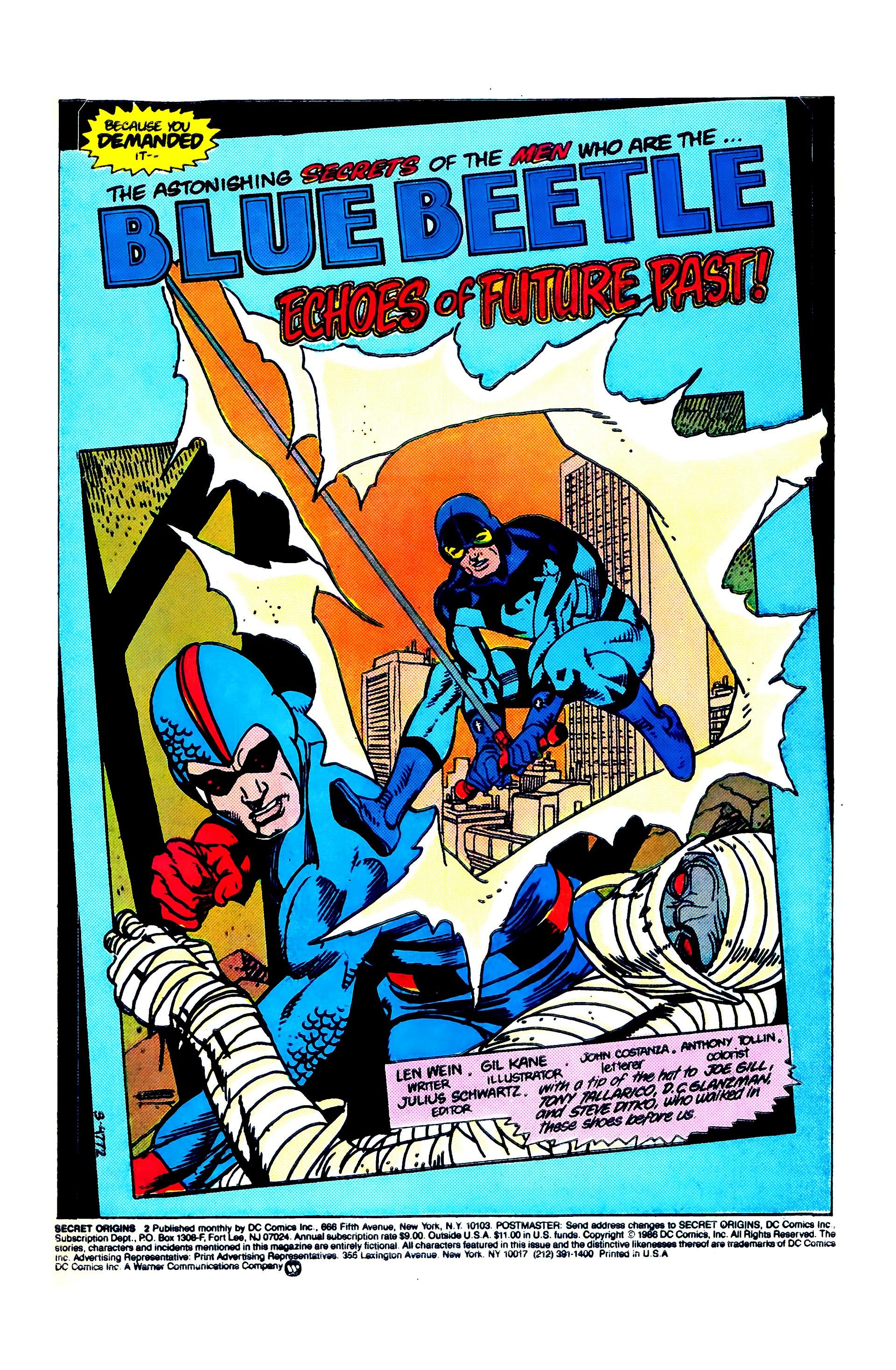 Read online Secret Origins (1986) comic -  Issue #2 - 3