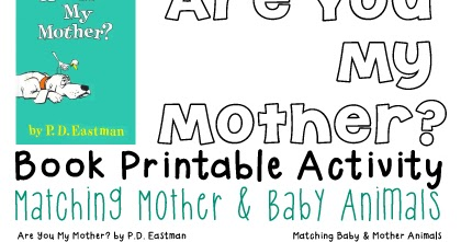picture relating to Are You My Mother Printable Book referred to as Absolutely free Mom Child Pets Matching Match Totschooling