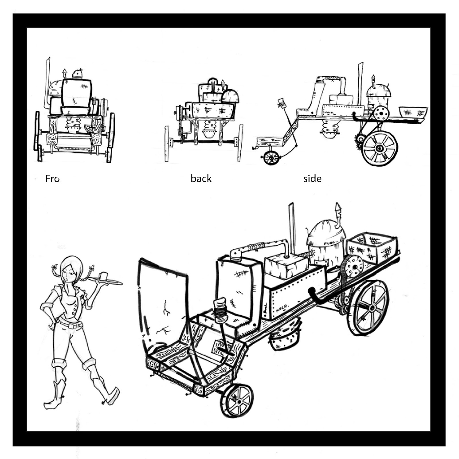 Shawn Ramcharan Art Concept Art For A Vehicle In The