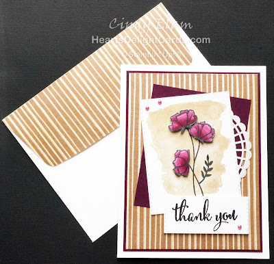 Heart's Delight Cards, Love What You Do, SRC - Love What You Do, Thank You Card, Stamp Review Crew, Stampin' Up!