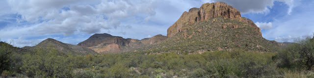 panorama from in the wide canyon