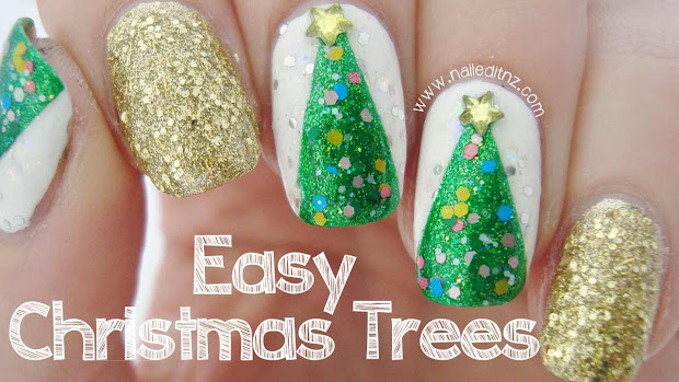 classy and simple christmas nail