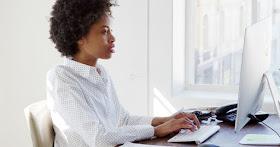 African American woman writing books