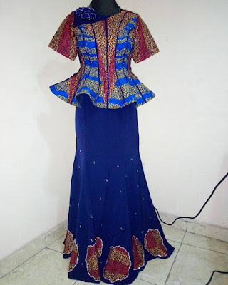 LATEST ANKARA LONG GOWN STYLES FOR CUTE LADIES