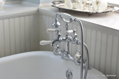 Clawfoot tub with Chrome faucet